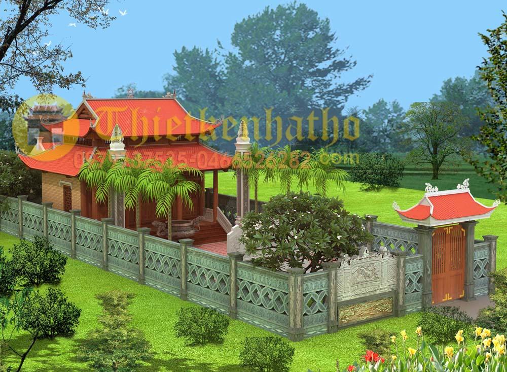 Mẫu Số 23: Nhà Thờ 8 Mái đáo 3 Gian Hiên Trước Có Cột Lửa Ngũ Cấp Cđt A Thuần- Yên Thành Nghệ An