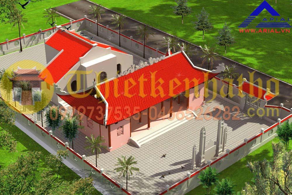 Mẫu Số 25: Nhà Thờ 5 Gian 4 Mái 2 Khối Nhà Tiền Tế Và Hậu Cung  ở Thanh Hóa