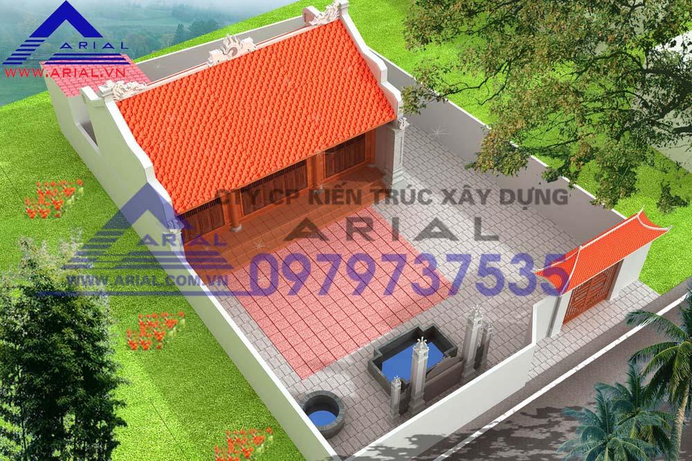 Mẫu Số 10: Nhà Thờ 2 Mái Diện Tích Nhỏ Không Có Cột Hiên ở Nam Định