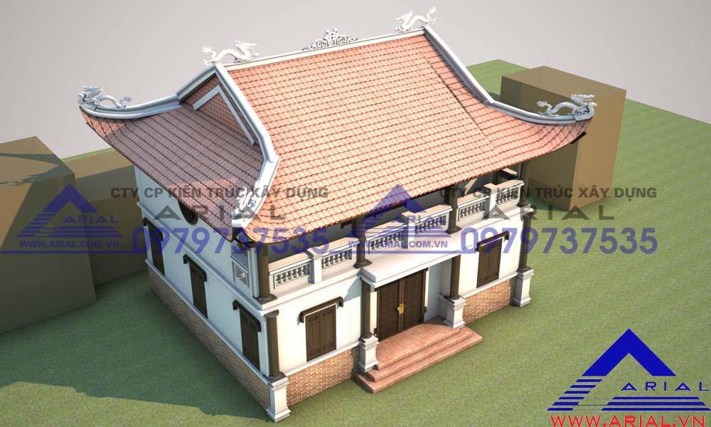 Mẫu Số 12: Nhà Thờ 2 Tầng 4 Mái đao Cầu Thang Bên Trong Nhà Cđt Chú Cương ở Thanh Liêm Hà Nam