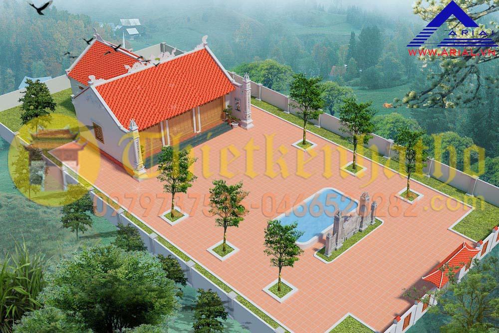 Mẫu Số 28: Nhà Thờ 2 Mái Không Có Cột Hiên Mb Chữ đinh ở Nghệ An