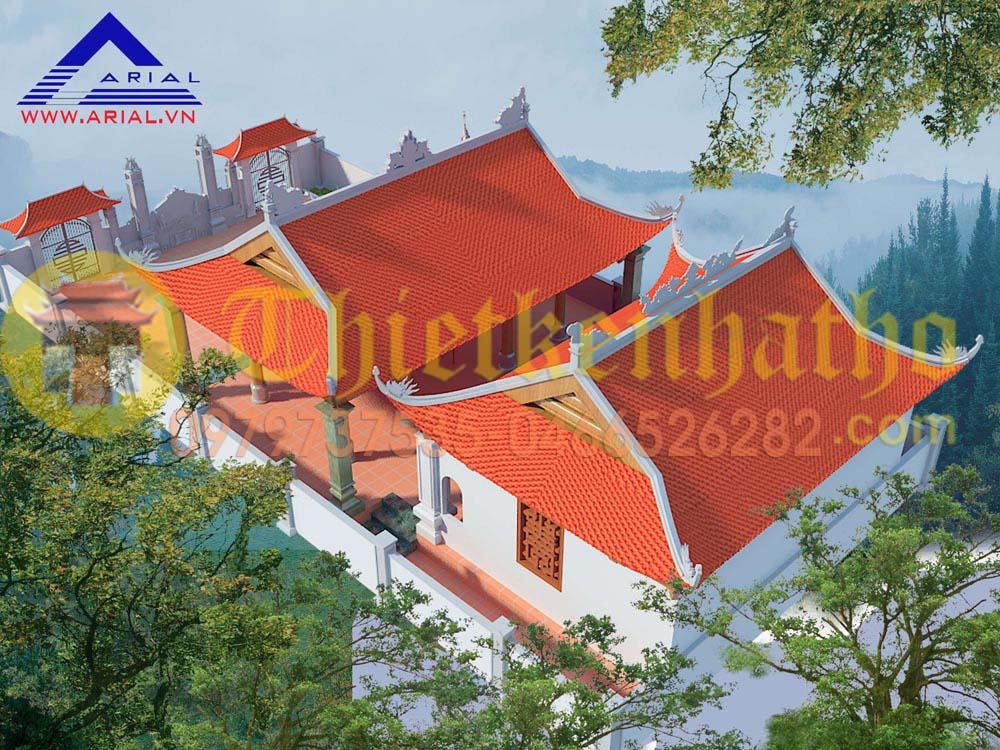 Mẫu Số 29: Nhà Thờ 2 Khối Tiền Tế để Thông Và Hậu Cung đều Có 4 Mái đao ở Nghệ An