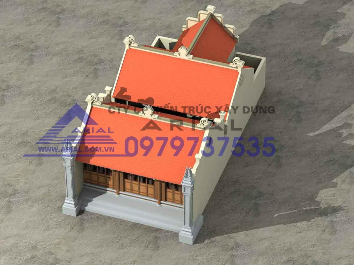Mẫu Số 3: Nhà Thờ 2 Khối Tiền Tế Chữ Nhất Hậu Cung Chữ đinh Nhà Thờ ở Nam Định