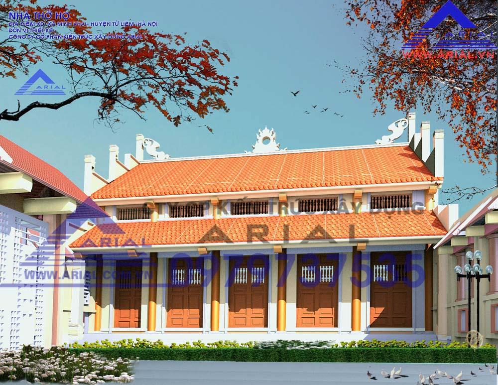 Mẫu Số 4: Nhà Thờ 2 Mái Chồng Diêm Cổ đẳng Cđt A Tiếu ở Văn Trì Minh Khai Từ Liêm HN