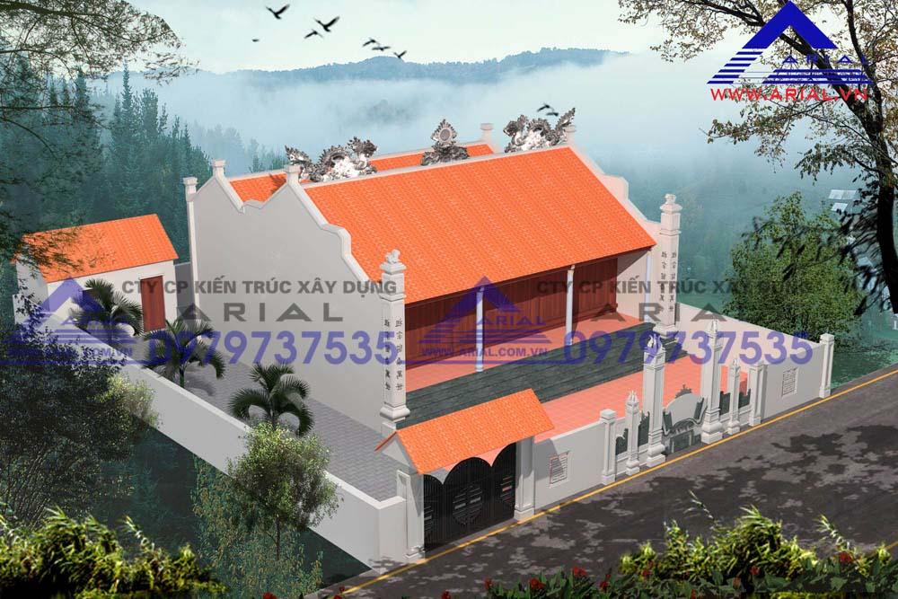 Mẫu Số 9: Nhà Thờ 2 Mái 2 Khối Nhà Liền Hậu Cung Mặt Bằng Hình Chữ Nhị ở Nam Định