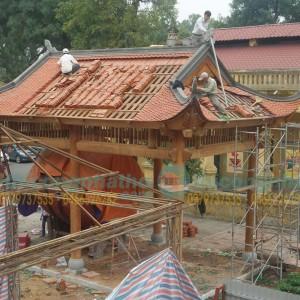 Lắp đặt Nhà Gỗ Lầu Cụ Rùa ở Hoàng Thành Thăng Long Hà Nội
