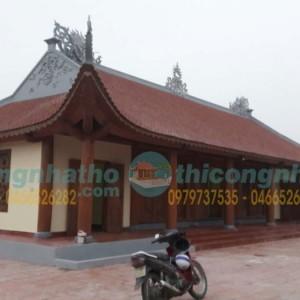 Sơn Hoàn Thiện Nhà Khách 5 Gian Chùa Văn Lâm Vũ Thư Thái Bình