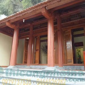 Nhà Mẫu Cột Xà Vì Bê Tông Giả Gỗ, Cửa Hoành Rui Bằng Gỗ ở Ninh Bình