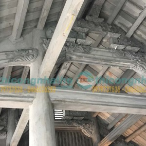 Đắp Vẽ Trực Tiếp Hoa Văn Nhà Thờ Ích Vịnh Vĩnh Quỳnh Hà Nội