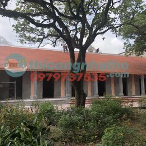 11. Sơn Giả Gỗ Nhà Khách 7 Gian đình Ích Vịnh , Vĩnh Quỳnh , Hà Nội