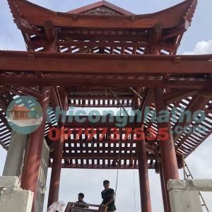 17. Xong Gỗ Chuẩn Bị Lợp Ngói Lầu Gỗ Thủy đình ở Đông Thành Thanh Ba Phú Thọ