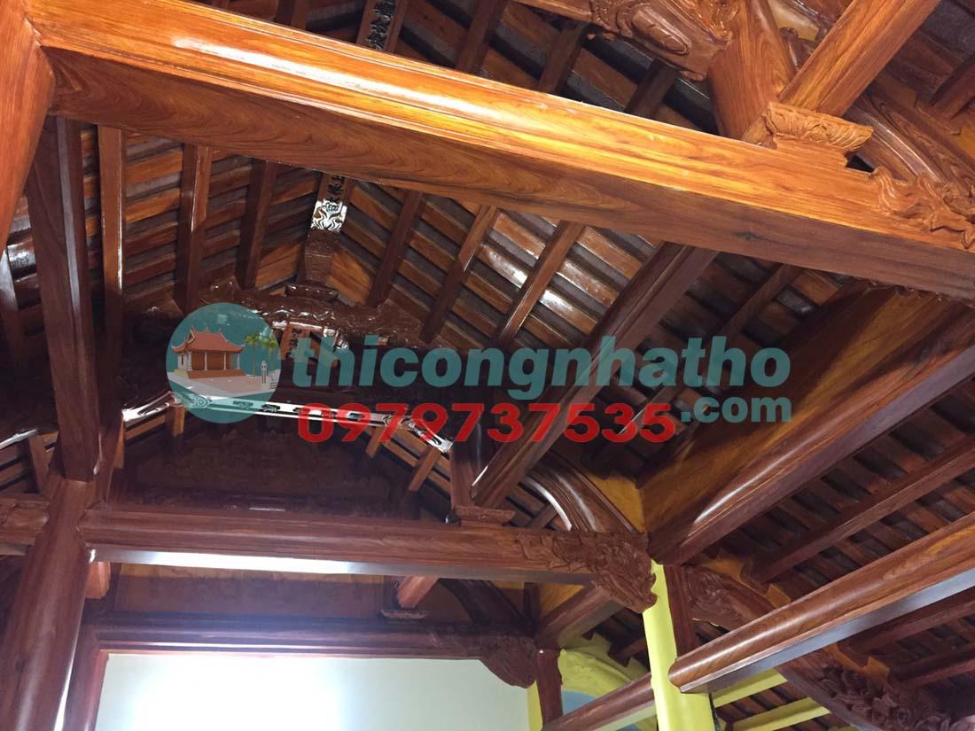 22. Đã Lắp Chân đá Ngạch Cửa Xong , đang Sơn Hoàn Thiện Nhà Thờ 3 Gian ở Cổ Nhuế, Hà Nội